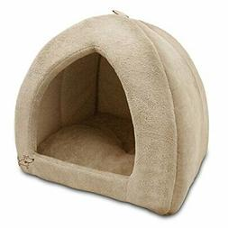 Indoor Dog House Bed Brown Pet Soft Warm Cushion Pad Washabl