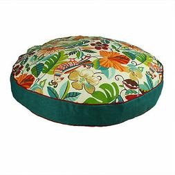 Snoozer Indoor Outdoor Round Dog Bed in Lensing Jungle Patte