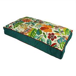 N2 XL Indoor Outdoor Red Blue Green Floral Pattern Dog Bed,