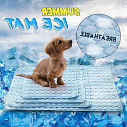 Indoor Summer Chilly Mat Cooling Pet Dog Cat Bed Cool Gel Pa