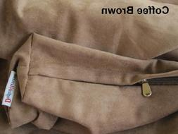 Dogbed4less Jumbo Extra Large Brown MicroSuede External Cove