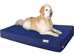 Dogbed4less Jumbo Extra Large Gel Infused Memory Foam Dog Be