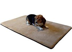 Dogbed4less Luxury Extra Large Cooling Memory Foam Dog Bed M