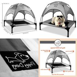 Floppy Dawg Just Chillin Dog Cot With Canopy for Small and M