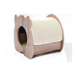 JXLBB Solid Wood Cat Nest Four Seasons General Sisal Claw Cl