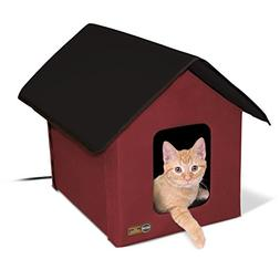 K and H Manufacturing KH Mfg Heated Barn Red Outdoor Kitty H