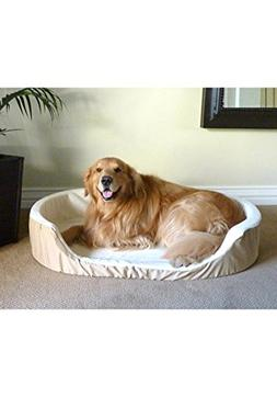 Majestic Pet 36x24 Khaki Lounger Pet Dog Bed Products Large