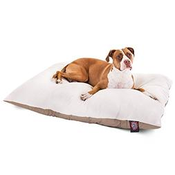 Majestic Pet 36x48 Khaki Rectangle Pet Dog Bed Products Larg