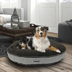 "Kirkland Signature 42"" Round Dog Bed Gray Storm Textured & F"