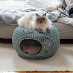 Keter Knit Resin Luxury Lounge Dome Bed for Small to Medium