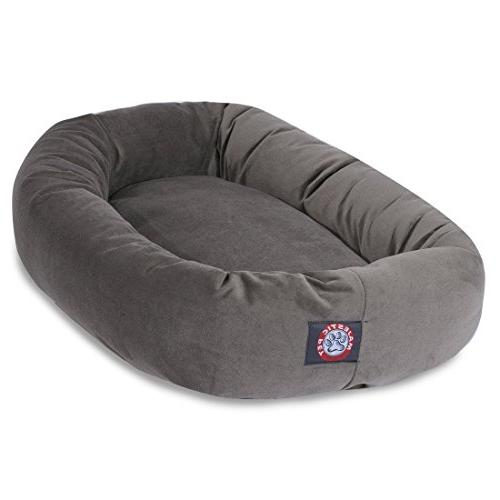 1 Piece Grey Solid Color Extra Large 52 Inches Bolster Donut