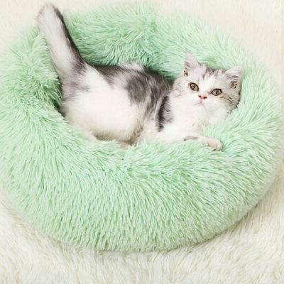 1xDonut Dog Cat Bed Fluffy Bed Calming Kennel