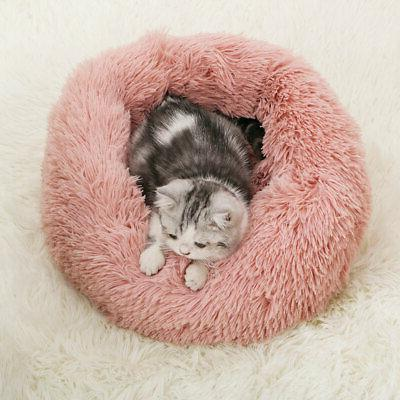 1xDonut Pet Dog Cat Bed Calming Kennel