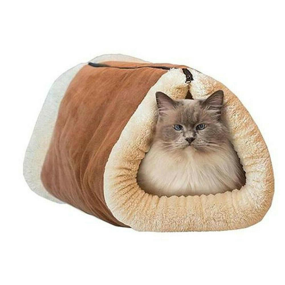 2 Dog Cat Bed Kennel Warm Nest Supper Pad