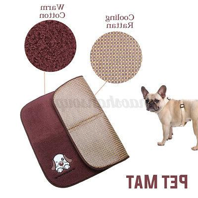 2 Pet Bed Cushion Pad Dog Cat Cage Crate Soft Cozy Mat