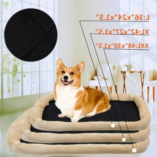 Brown Bed Cushion Mat Kennel Crate Warm Soft House