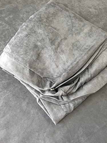37 gray microsuede fabric replacement