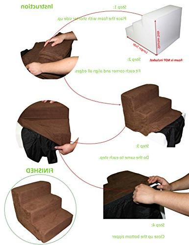 Best 4-Step COVER ONLY for Stairs/Steps - Brown