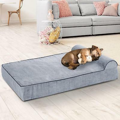 "48"" Padded Orthopedic Bolster Pet Bed -"