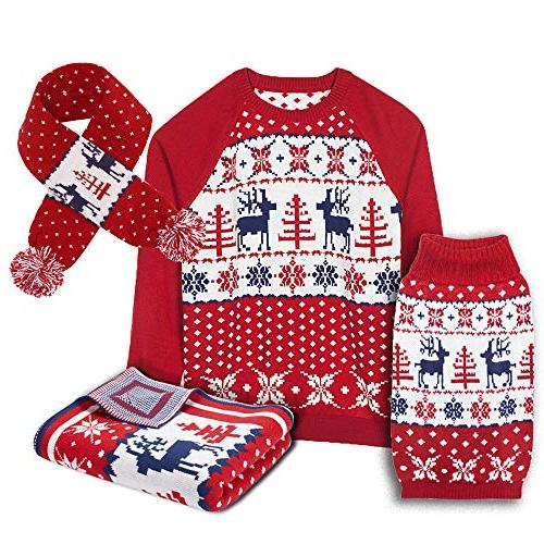 Blueberry 6 Vintage Ugly Christmas Holiday Sweater & Length Pack 1