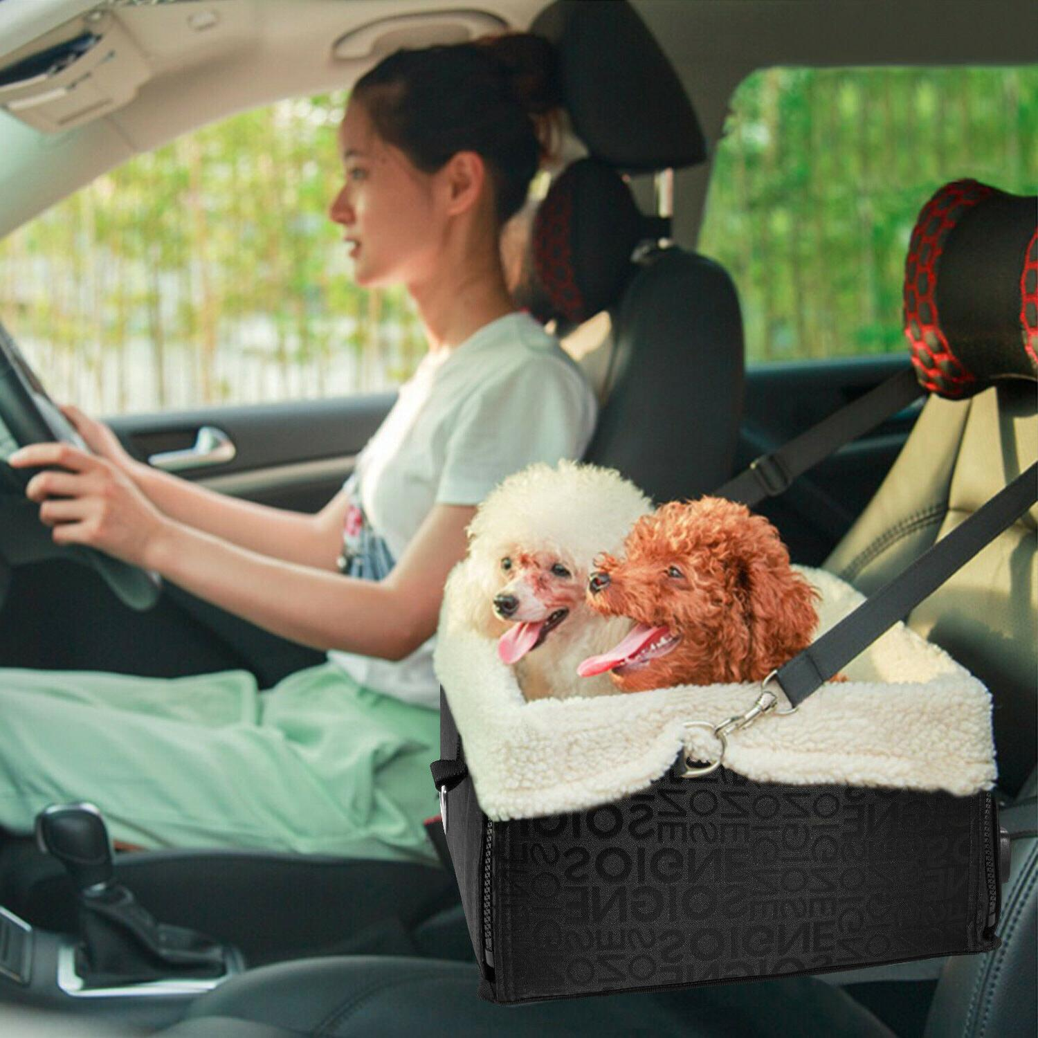 Lookout Pet Dog Car Seat For Car W/ Leash Safety Booster Sea