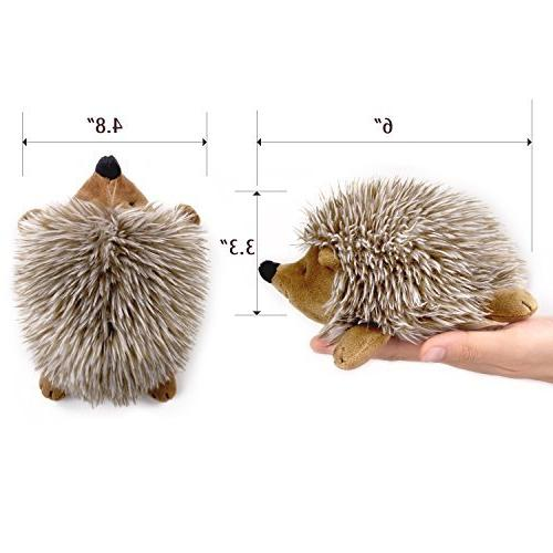 PAWABOO Toys Dog Pet Chew Toy, Super Soft Figure Toys, Brown