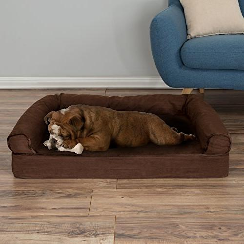 PETMAKER Bed with Memory 35.5x24x8 Brown