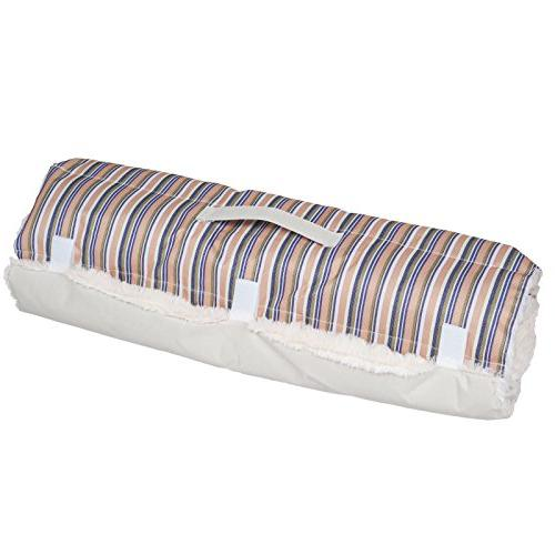 Roll up Travel Portable Foam Comfy Soft Dog Bed Blue Striped