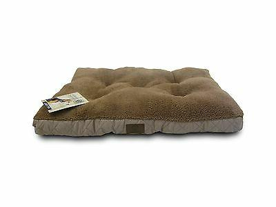 AKC Deluxe Plush Quilted Crate Mat Tan 24 by 17-Inch Free Sh