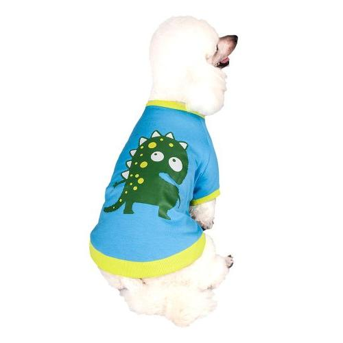 Blueberry Dinosaur Cotton in Blue Back of 1 Clothes for Dogs