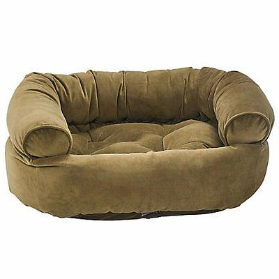 amber double donut dog bed