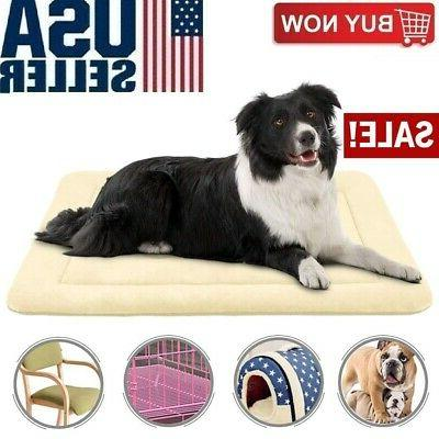 Medium Dog Bed Crate Mat 36 Inches Anti-Slip Washable Soft M