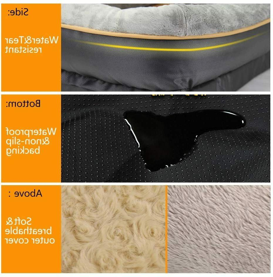 Dog Bed Memory Foam Pet Bed with Washable Cover Toy