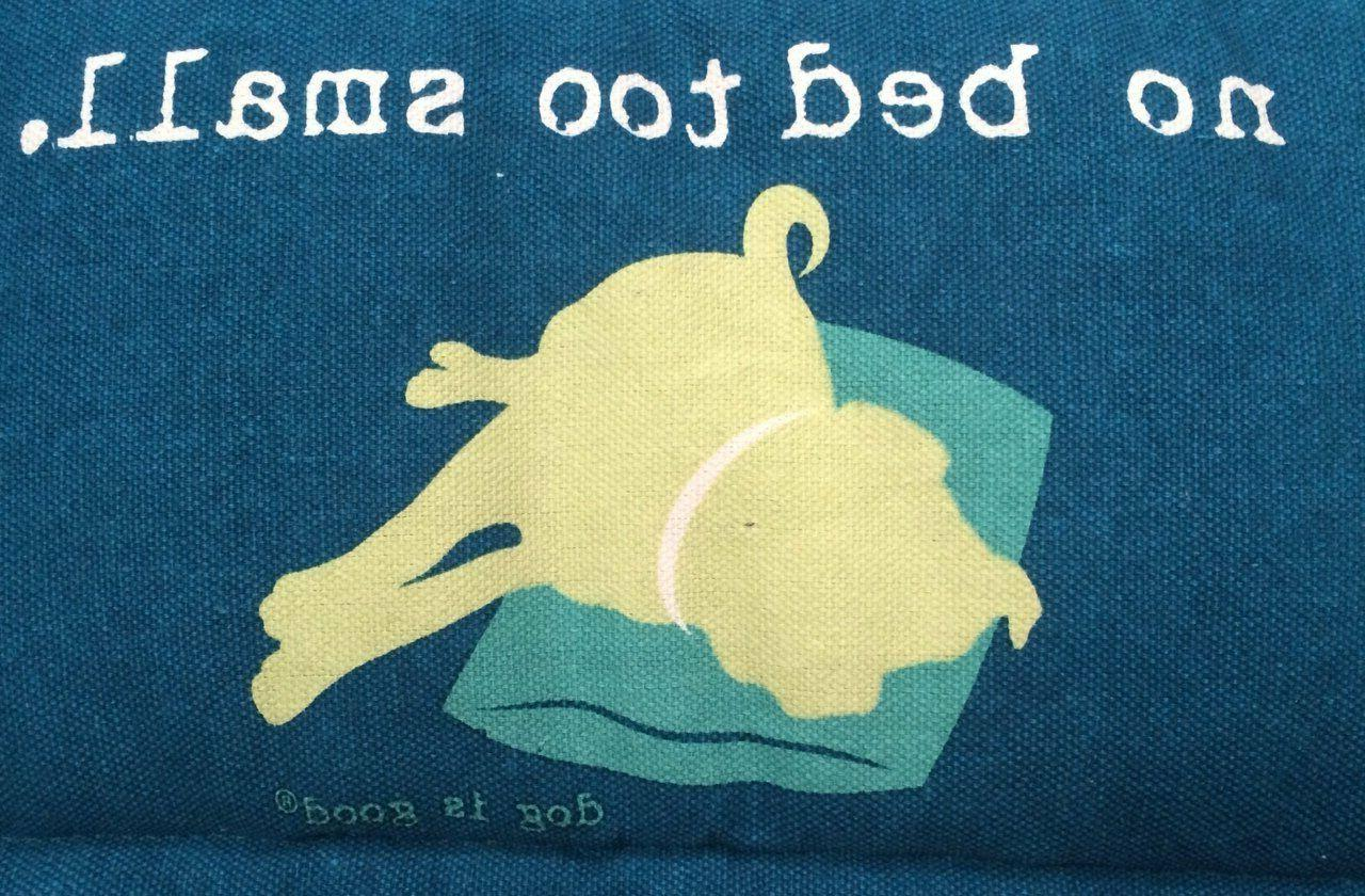 Dog Is Bed Small Canvas long,