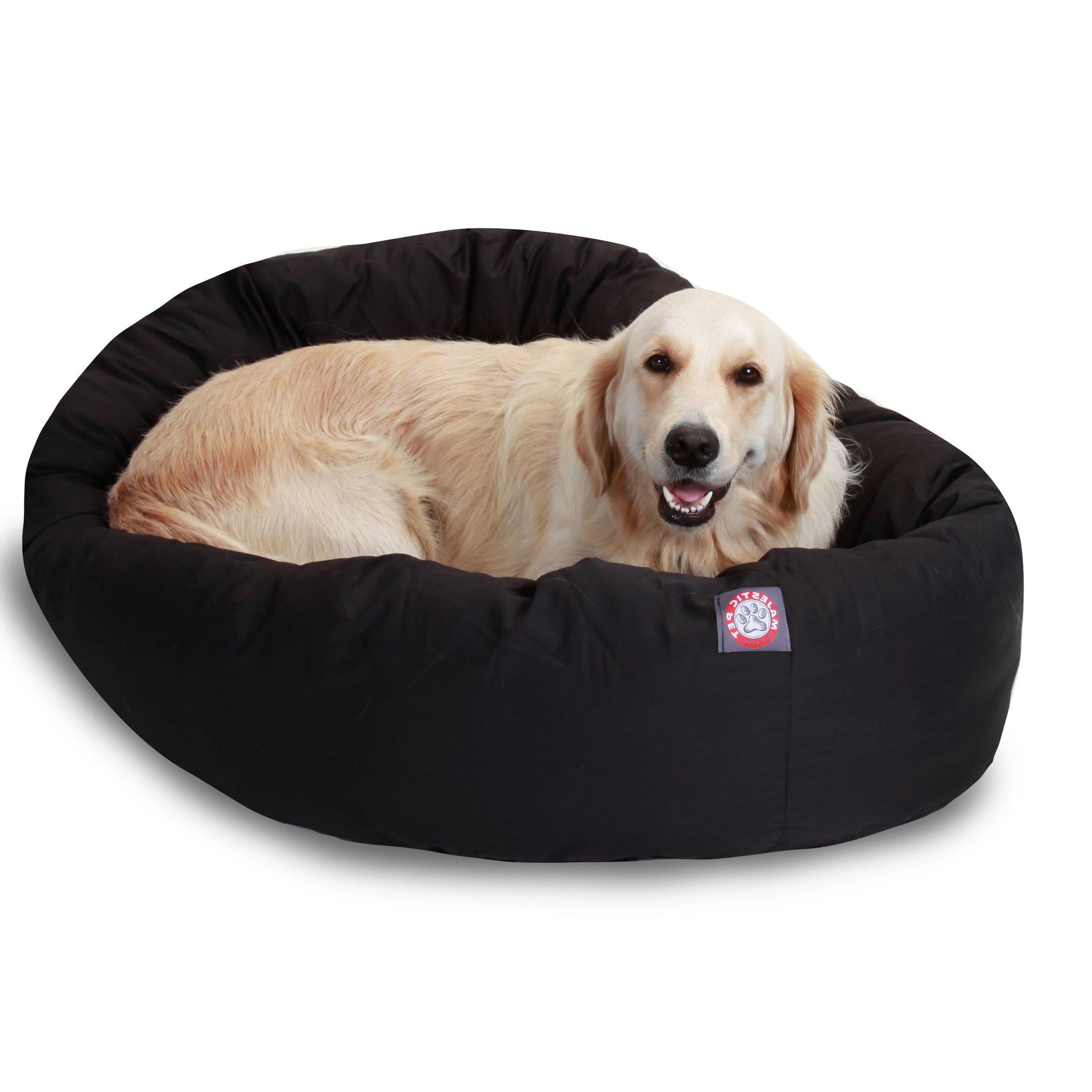 black bagel dog bed