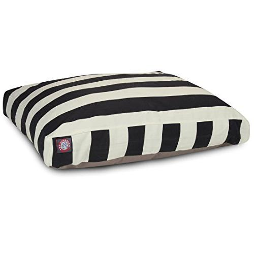Black Vertical Stripe Large Rectangle Pet