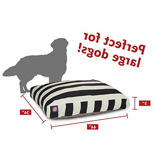 Black Vertical Rectangle Pet Bed
