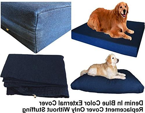 Dogbed4less Color Jean zipper cover only