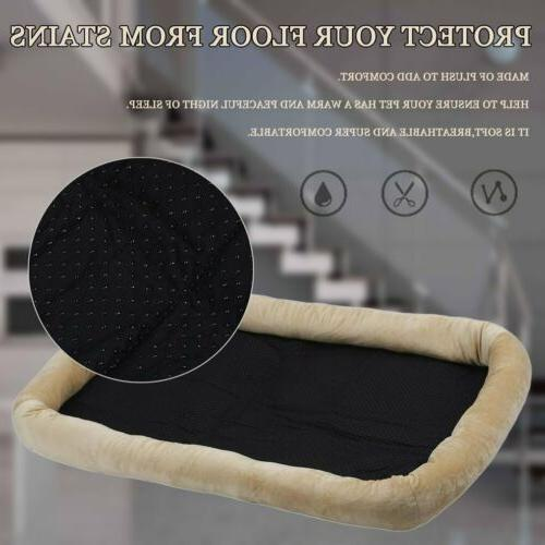 Brown Pet Dog Bed Mat Kennel Soft House