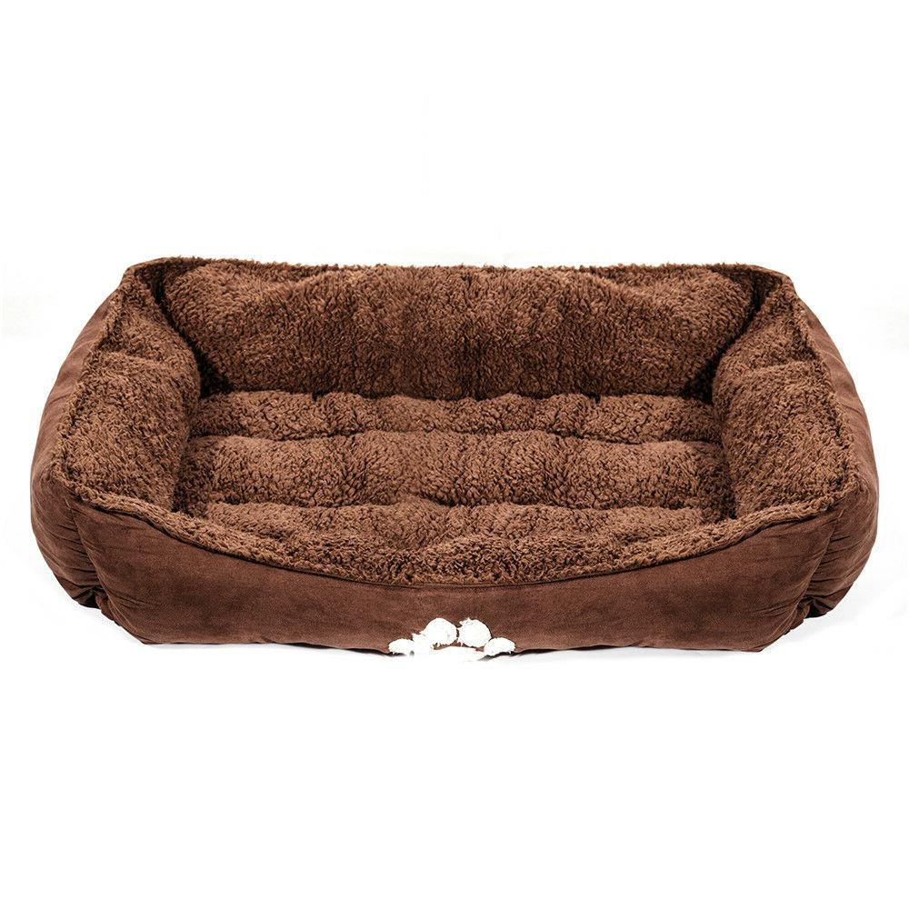 Bumper Pet Bed Dog/Cat Bed with Dog Paw Print Medium Size 25