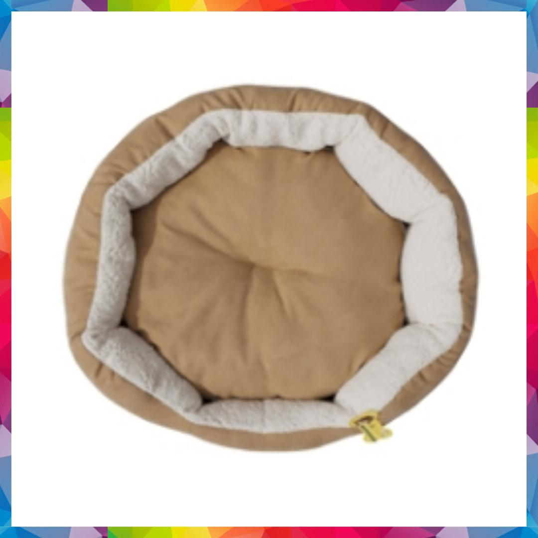 Calming Round Bed For Small Dogs Pillow Pet Plush Sofa - Washable