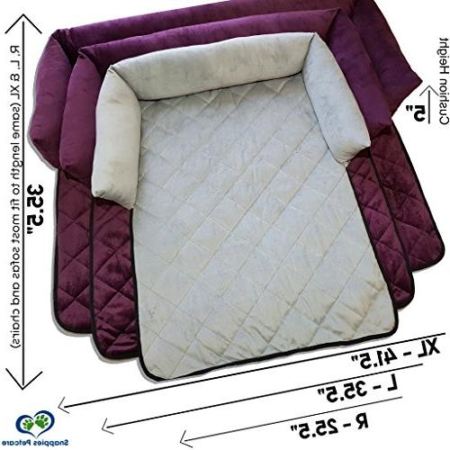 Cat & Couch Sofas, or Beds - Multi Bed, Protector for Pets with Bolster Cushions for and Protection