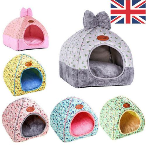 Cat Foldable Warm Bed Mat Nest Kennel Tent