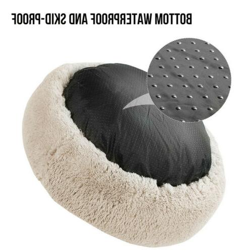 Cat Plush Bed Round Fur Sleeping Bed
