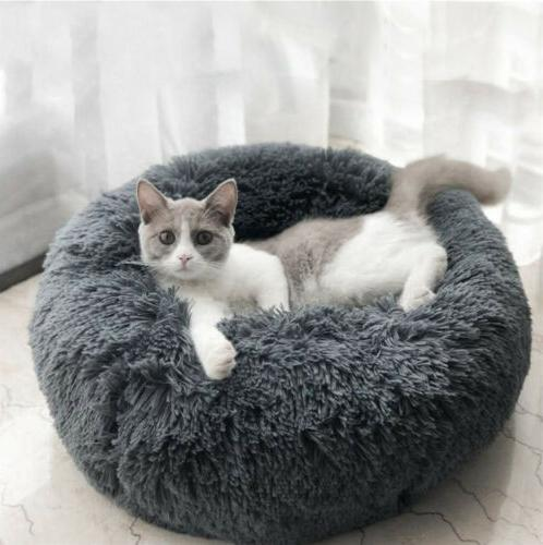 Self Warm Comfortable Plush Fur Pet Bed for Cat Small Dog