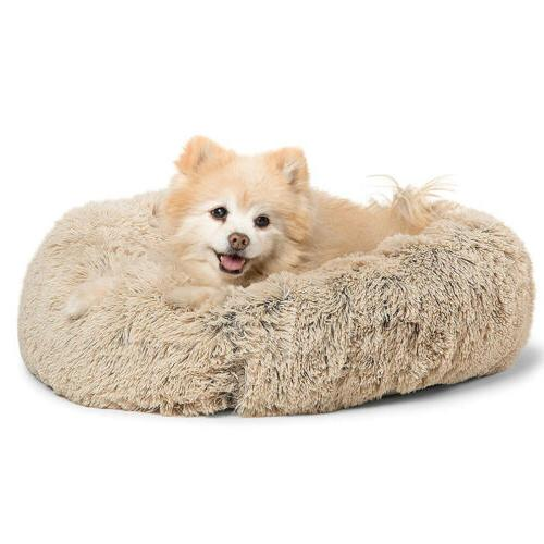 Self Warm Plush Fur Pet Bed Small
