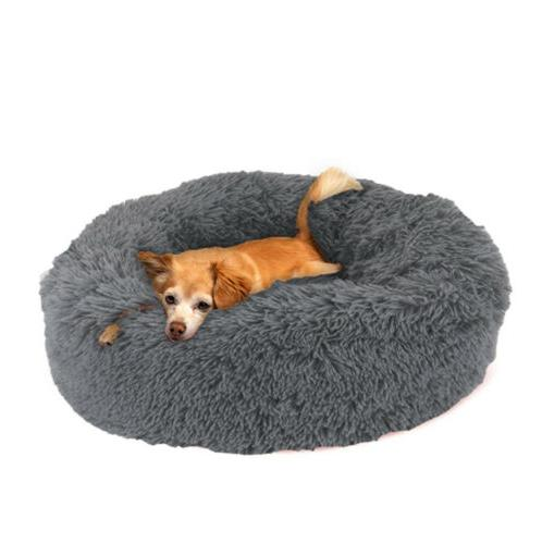 Cat Dog Bed Fur Donut Sleeping Bed S-L
