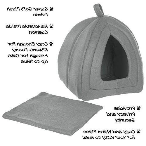 Cat Soft Tent/House for and Small Removable Pad PETMAKER