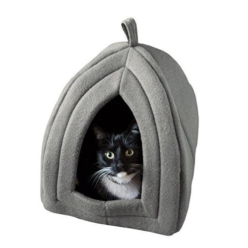 Cat Pet Soft Indoor Covered Tent/House and Small Removable Cushion Pad PETMAKER