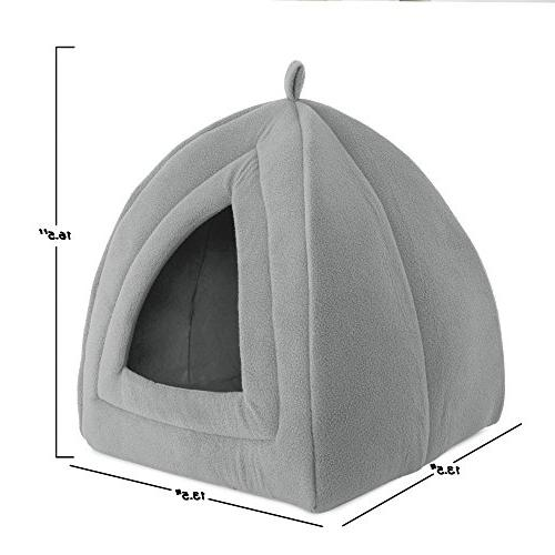 Cat Igloo- Soft Indoor Enclosed Tent/House for Cats, and Small Pets Removable Cushion PETMAKER